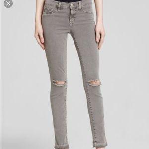 J Brand 811 Skinny Leg Twill Pant - Gray